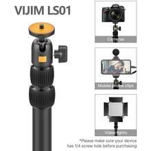 Ulanzi-soporte de montaje de luz de escritorio vijimi LS01, soporte de sobremesa ajustable de 96cm con cabeza de bola extraíble, tornillo 1/4 para Anillo de luz Led
