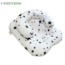 COZINESS U-Shaped Breastfeeding Pillow For Newborn Babies To Learn To Sit Anti-Choke Baby Pillows Breathable Full Cotton Bedding