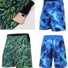 Морской синий повседневные шорты удобные Relex внутренние карманы на молнии модные быстросохнущие штаны для бега, Синий Футбол Спортивные