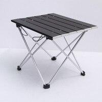 Mesa dobrável de alumínio ao ar livre acampamento portátil mesa de churrasco portátil ultra leve mini mesa de piquenique Mesas externas     -