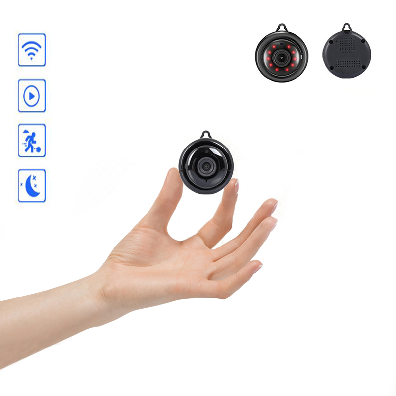 Mini Draadloze WIFI IP Camera Panoramic Home Security Infrarood Nachtzicht Bewakingscamera Sd-kaart Cloud Storage CCTV Monitor