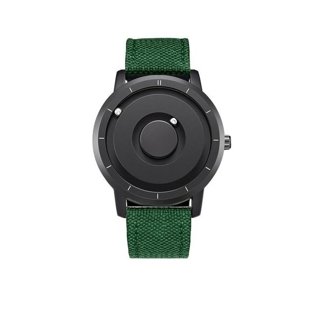 EUTOUR New Innovative Blue Gold Magnetic Metal Multifunctional Watch Men's Fashion Sports Quartz Watch Simple Men's Watch 8