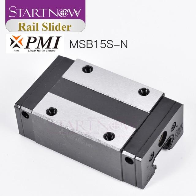 Startnow Originale Cina Taiwan PMI del Binario di Guida Lineare Blocco di Trasporto MSB15S N per il Router di CNC CO2 Incisione Laser Macchina di Taglio