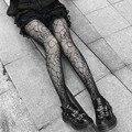 Готический колготки сексуальные Косплэй костюм ажурные чулки до бедра высокие колготки размера плюс Для женщин подарок для подруги дропши...