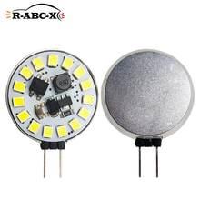 2 pièces 15 led 2835 smd G4 led ampoule Hotte Ronde Ampoule 10-30V Remplacer Halogène Éclairage Lustre blanche de Projecteur