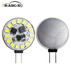 2 pcs 15 leds 2835 smd G4 led bulb Round Range Hood Bulb 10-30V Replace Halogen Lighting Chandelier Spotlight white