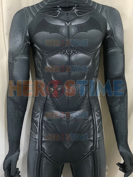 Newest Batman Suit Batman Arkham Origins Batman Cosplay Costume Spandex 3D Shade Batman Superhero Cosplay Zentai Suit