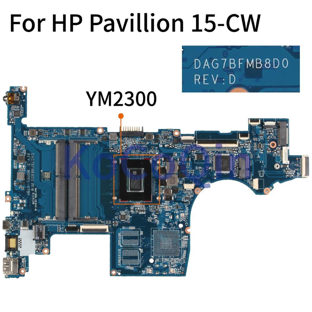 KoCoQin DAG7BFMB8D0 Laptop Motherboard For HP Pavillion 15-CW YM2300 DAG7BFMB8D0 Mainboard