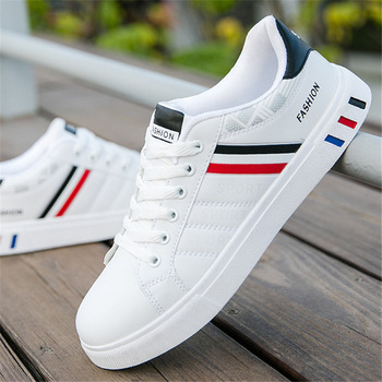 Fashion Men's Sneakers with Black & Red Strips