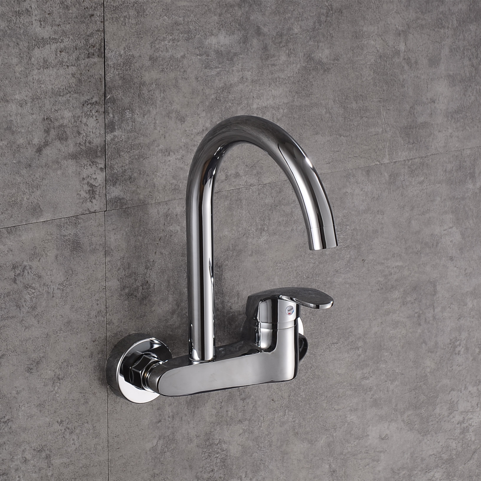 Abba Plumbing Kitchen Rotary Kitchen Faucet Wall Two Lian Leng Thermal Mixing Faucet Balcony Wall-Mounted Leading