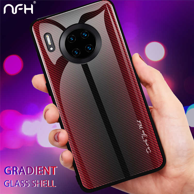 For Huawei Mate 30 Nova 5 5I P30 P20 Lite Pro Y9 Prime 2019 Fashion Tempered Glass Phone Case On Honor 8X 9X 20 Pro10 Lite Cover