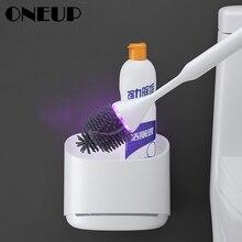Oneup uv esterilização toalete escova titular cabeça de borracha escova de limpeza para banheiro doméstico piso limpeza acessórios do banheiro