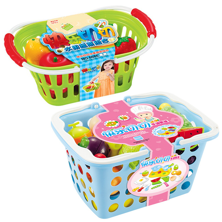 Children Fruit Earnestly Toy Set Play House CHILDREN'S Kitchen Cake & Vegetable Cutting Up Vegetables Cut The Watermelon