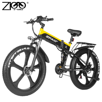 ZPAO-Bicicleta eléctrica de montaña para Adulto, EBike plegable de 1000W, eléctrica