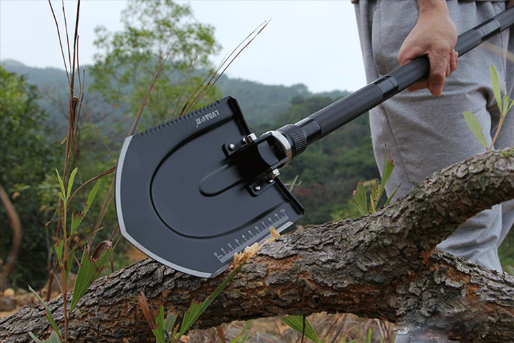97cm Multi-function Engineering Shovel Outdoor Garden Fishing Tools Wilderness Survival Equipment Snow Shovel with a Free bag