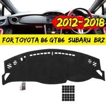 Автомобильный коврик для приборной панели Autoleader черный коврик для приборной панели для Toyota 86 для subaru BRZ 2012- козырьки от солнца правая ведущая