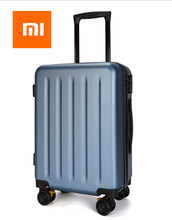 Xiaomi 100% PC Suitcase Colorful Rolling Luggage Lightweight Carry on Spinner Wheel Travel TSA lock women men 20 24 28inch(China)