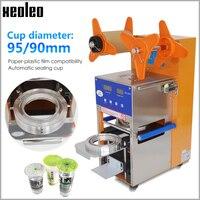 Xeoleo Automatische Blase tee maschine Tasse dicht maschine 400 tassen/H Digitale Zählen Tasse sealer Für 90/95mm Kaffee/Milch tee tasse