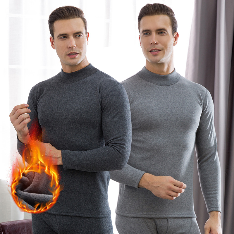 Thermal underwear for men winter fleece thick long johns keep warm men clothes