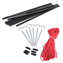 Outdoor Canopy Pole Barbecue Tent Hall Pole Canopy Support Iron Pole Suit 2M Hiking Camping Windproof Tent Accessories