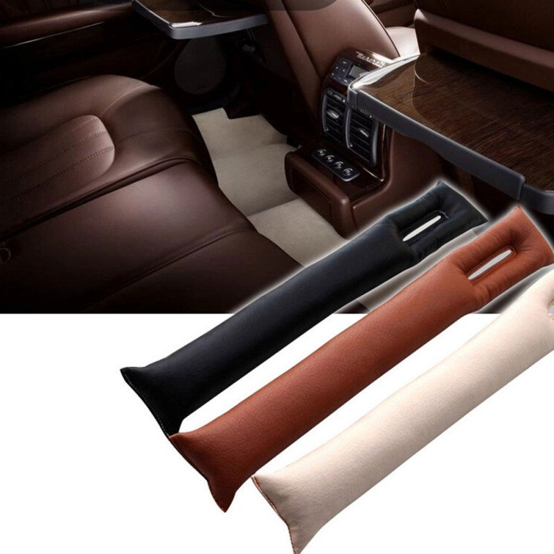 Hot 1Pcs Universal Car Seat Space Cover PU Leather Soft Mat Auto Faux Car Seat Pad Gap Fillers Holster Spacer Filler Padding