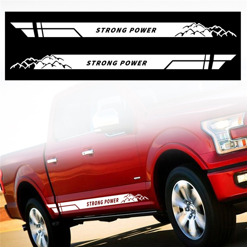 Side Door Stripe Kit Decal Sticker Graphic for Honda Ridgeline Grille Side Steps