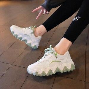 Image 5 - נעלי נשים פלטפורמת דירות חדש מעצב לנשימה רשת נעליים יומיומיות נקבה אופנה מאמני תחרה עד פנאי נשים מגופר