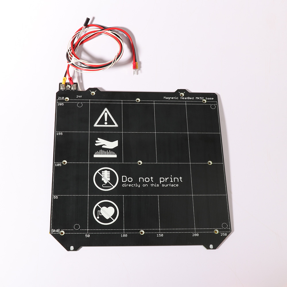 3d Printer Parts Clone Prusa I3  MK3 3d Printer Heated Bed With/no Magnetic MK52 Heatbed 24V / 12V   Option