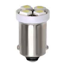 100pcs BA9S T4W T11 1210 3528 4 SMD LED נורות לבן מפת אורות רכב אוטומטי אורות 4 נוריות 12V DC