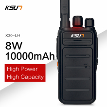 10000mAh High Power 8W Walkie Talkie UHF Handheld Two Way Ham Radio Communicator HF Transceiver Amateur Handy