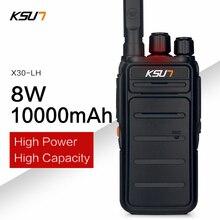 10000mah de alta potência 8w walkie talkie uhf handheld em dois sentidos presunto rádio comunicador hf transceptor amador acessível