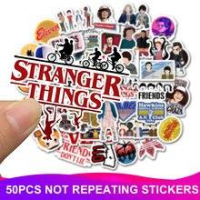 50pcs Pack Stranger Things Stickers Waterproof Skateboard Suitcase Snowboard Motorcycle Graffiti Laptop Sticker Kids Classic font