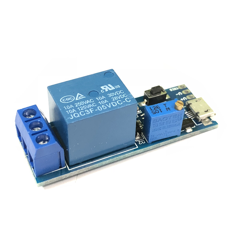 2020 New Trigger Delay Timer Relay Conduction Relay Module Time Delay Switch Wide Voltage 5V-30V Spot Wholesale