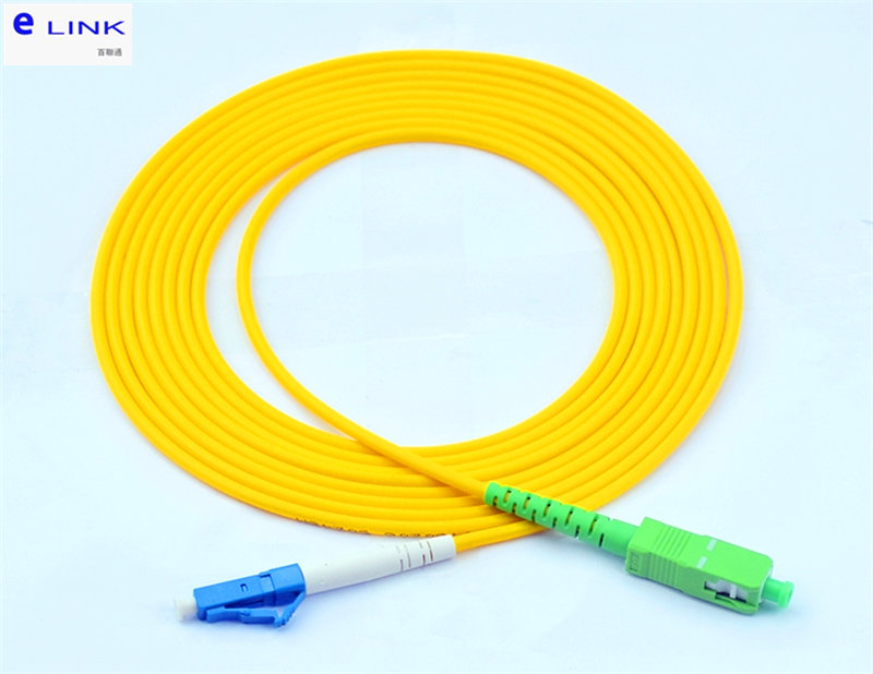 10pcs SC/APC-LC/UPC Fiber Optic Patch Cord SM Simplex 1M 2M 3M 5M 7M 10M LC-SCA Optical Fibre Jumper SX Free Shipping IL<0.3