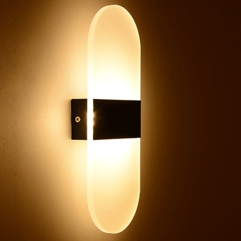 Modern simple Led wall light Acrylic round Wall light kitchen dining room bed room foyer study balcony Wall Lamp black modern led wall lamp acrylic round