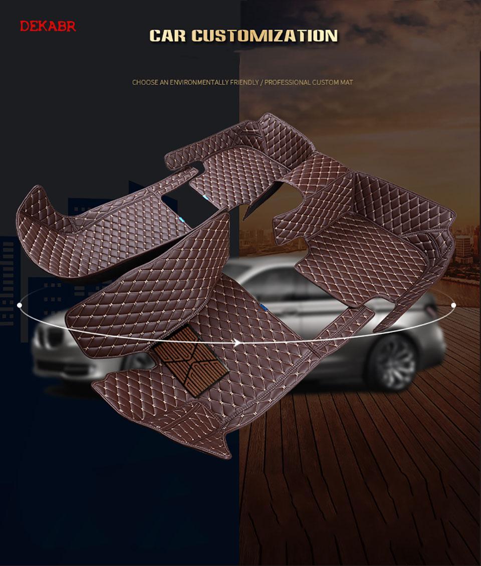 Dekabr Lsrtw 2017 Fiber Leather Car Floor Mat For Tesla Model X 2015 2016 2017 2018 2019 2020 5seats 6 Seats7 Seats Sticker - 2