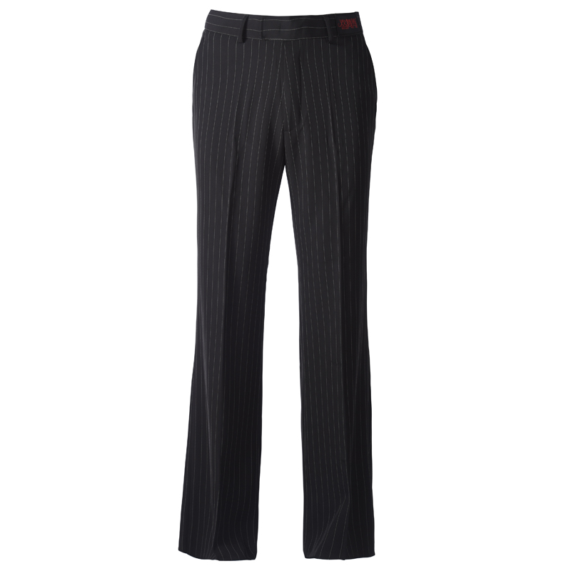 H2619 Men Latin Dance Pants Male Fashion Straight Loose Stripe Practice Trousers Square National Standard Modern Dance Clothes