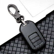2019 New Carbon car key cover key case For Honda Civic CR-V HR-V Accord Jade jazz City Pilot Crider Odyssey 2015 2016 -2018 2019(China)