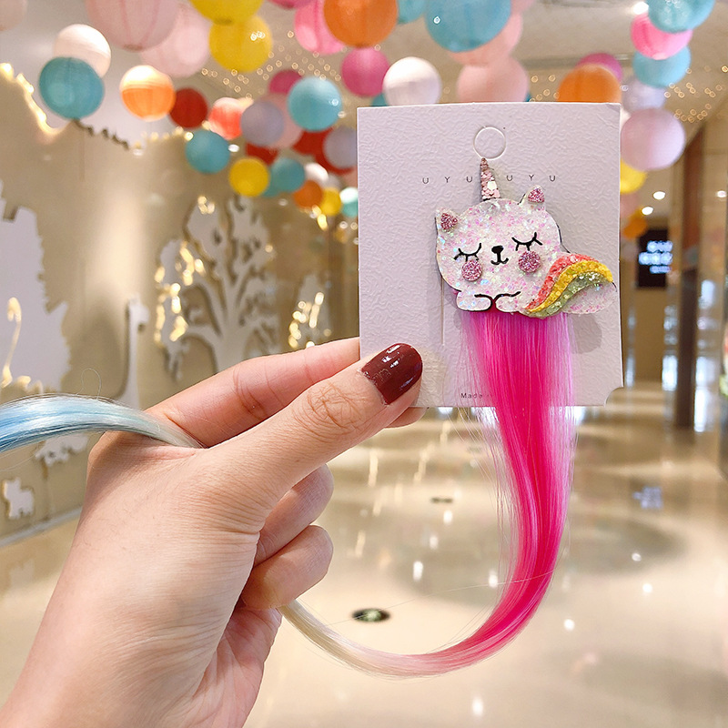 2020 Sweet Colorful Hairpin Lovely Children Girls Hairclip Kids Cute Barrette Cartoon Extension Braider Rainbow Hair Accessories