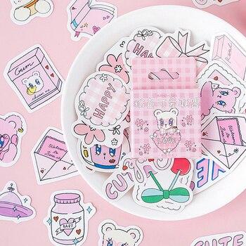 Gran oferta 46 Uds. Pegatinas de diario rosas de Liga bonita DIY etiquetas de papel regalos decoración de envases
