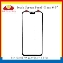 10 ชิ้น/ล็อตหน้าจอสัมผัสสำหรับ Huawei Y9 2019 แผงด้านหน้าด้านนอกกระจกเลนส์หน้าจอสัมผัสเพลิดเพลินไปกับ 9 Plus LCD เปลี่ยน