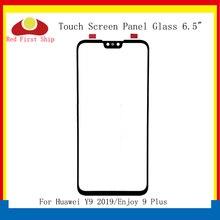 10 cái/lốc Màn Hình Cảm Ứng Cho Huawei Y9 2019 Bảng Điều Khiển Cảm Ứng Mặt Kính Bên Ngoài Ống Kính Cảm Ứng Thưởng Thức 9 Plus LCD Kính thay thế