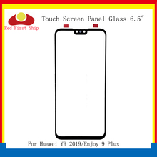10 stks/partij Touch Screen Voor Huawei Y9 2019 Touch Panel Voor Outer Glas Lens Touchscreen Genieten 9 Plus LCD Glas vervanging