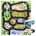 Spiel Teppich Große Stadt Verkehrs Park Matte Spielen Kinder Teppich Entwicklung Baby Krabbeln Spielzeug Kinder Spielen Spiel Matte + Legierung auto