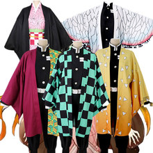 קוטלת שד קוספליי תלבושות Kimetsu לא Yaiba קאמאדו Tanjirou Nezuko Soubi Zenitsu Tomioka Giyuu Kochou Shinobu פאת קוספליי