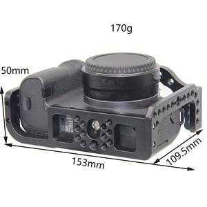 Image 4 - FFYY Cage de caméra pour Canon EOS R avec trous de filetage pour fixation de Microphone à bras magique