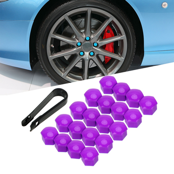 Auto Hub Screw Cover Car Wheel Nut Caps 17mm Anti-Rust Auto Trim Tyre Nut Bolt 20pcs Dust Proof Protector Car Styling image