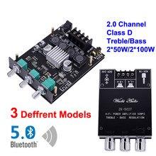 2*50 Вт 2*100 Вт TI TPA3116D2 Bluetooth 5,0 плата цифрового усилителя мощности класс D HiFi стерео аудио тон домашний кинотеатр эквалайзер усилитель