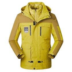 Cross Grens Mannelijke Regenjas Jas Drie-In-een Windcheater Outdoor Bergbeklimmen Clothings Fluwelen Plus Katoen Gevoerde Kleding