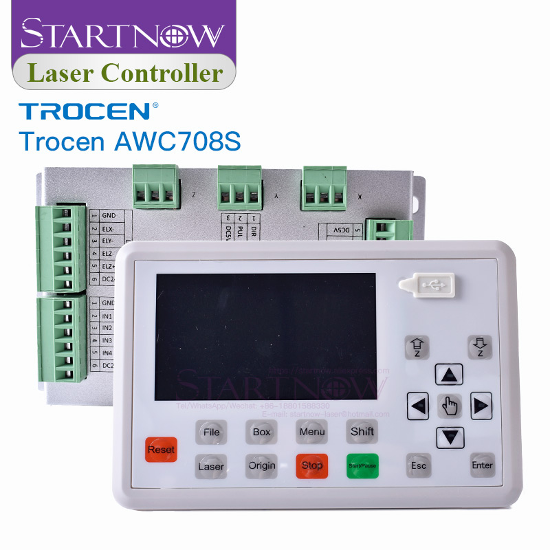 Trocen AWC708S Replace Ruida Board CNC Control System For Cutting Equipment Machine Spare Parts CO2 Laser Controller Card 708S